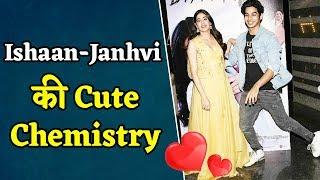 Ishaan के साथ Film के Promotion में कुछ ऐसे दिखी Janhvi