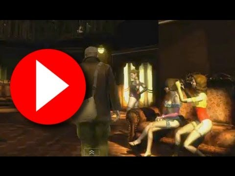 The Saboteur HD video game trailer Belle de Nuit - topless dancing girls night club from the game