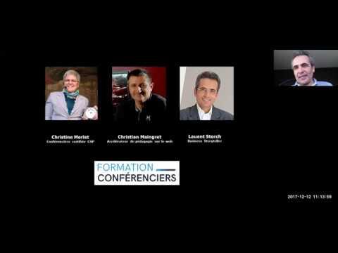 Devenez un excellent conferencier sans tics de langage Webinaire 12 dec 17