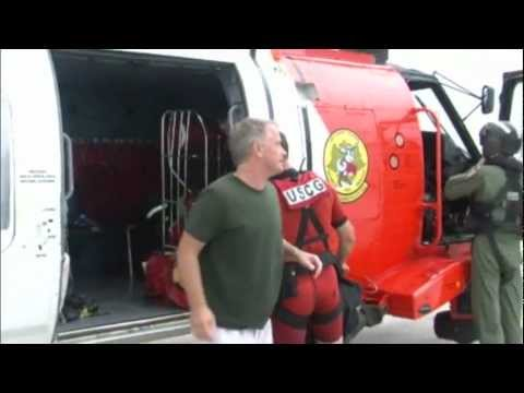 U.S. Coast Guard Rescue near Hernando Beach, Florida: MH-60 Jayhawk Helicopter