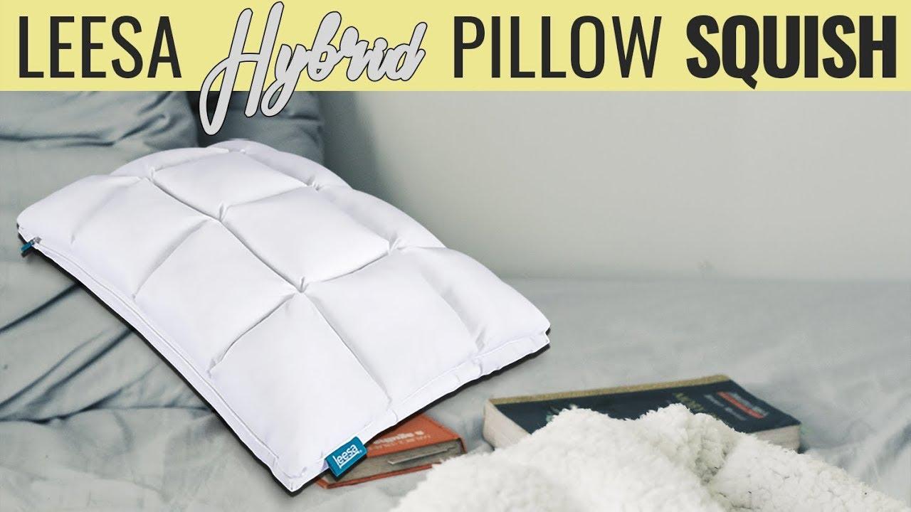 leesa hybrid pillow squish