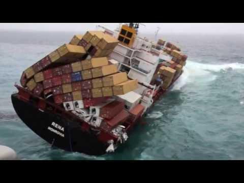Navio Rena Container Vazamento Combustivel Youtube