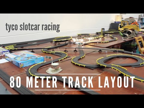Tyco Slot Car Racing - 80 Meter Track Layout