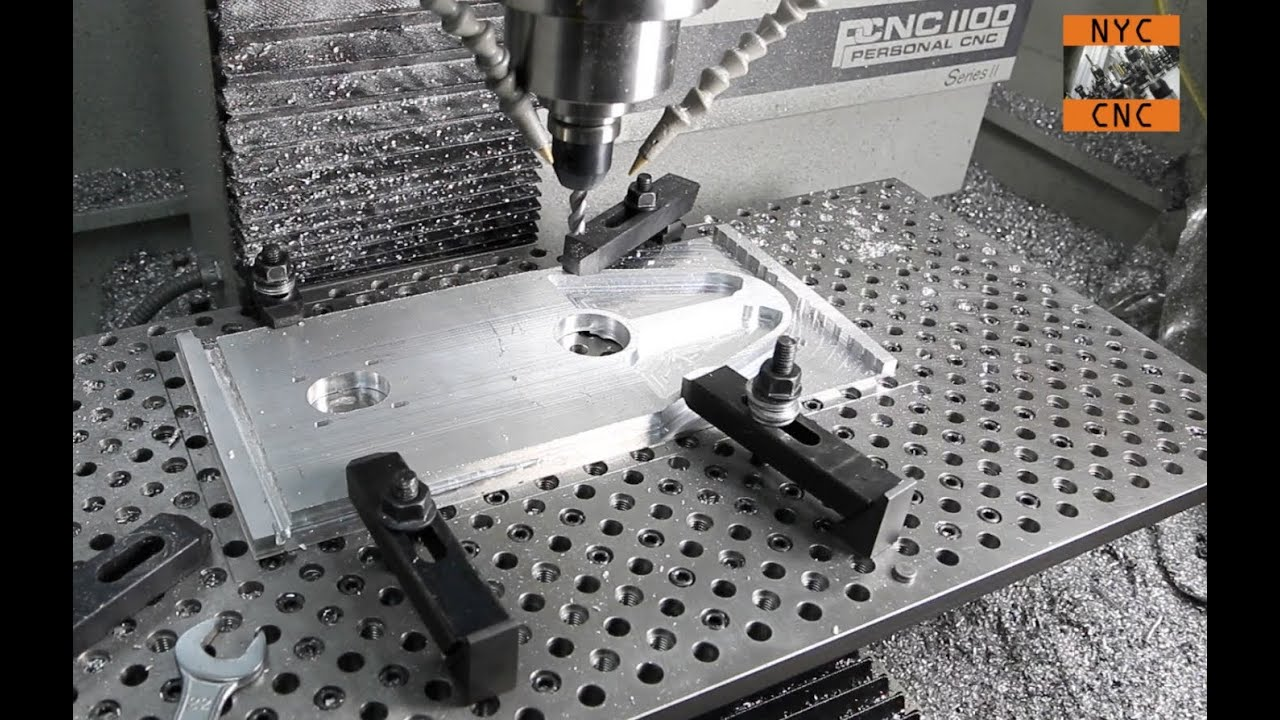 Manufacturing At Home Machining Large Aluminum Plate With