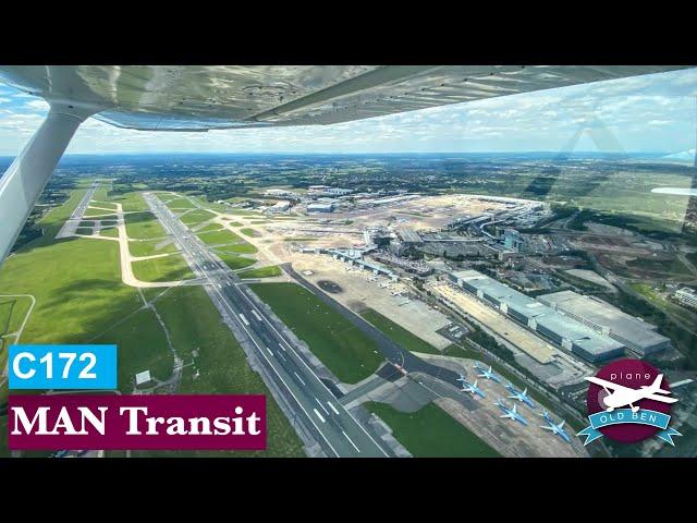 C172 - Blackpool To Nottingham | MAN Overhead Transit | Flight Vlog