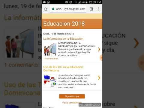 Blog Educacion 2018