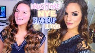 drugstore new years eve makeup tutorial   easy smokey eye   casey holmes