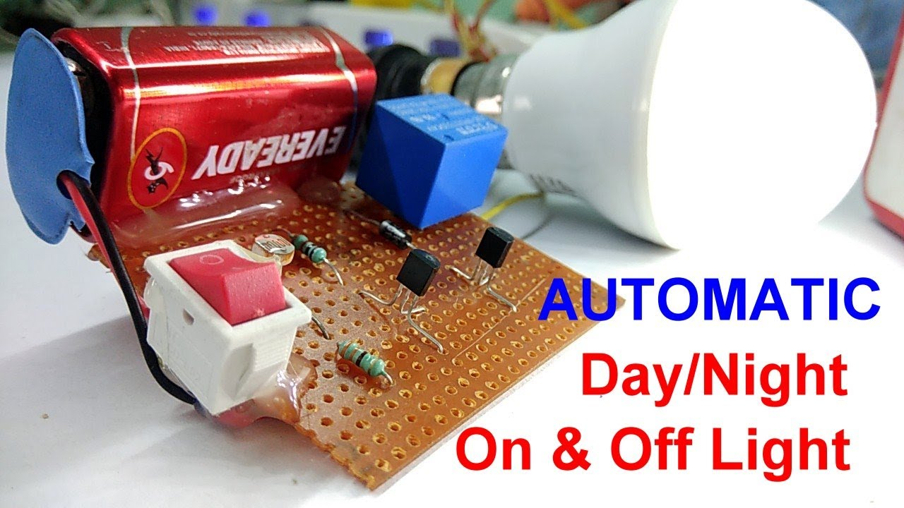 Automatic Light Day Night Off On Sensor Auto Street Operated Relay Circuit D Mohankumar Ldr