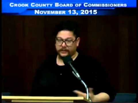 CROOK COUNTY BOARD OF COMMISSIONERS SPEECH
