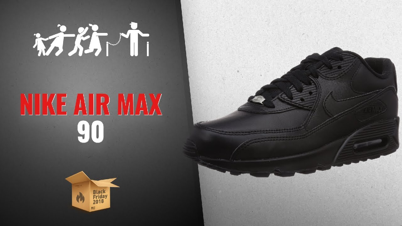 84e0fb1d41ed NIKE Men s Air Max 90 Leather Running Shoe Black Friday   Cyber ...