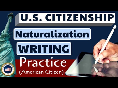 2020 U.S. Citizenship Official Writing Test Practice (American Citizen)