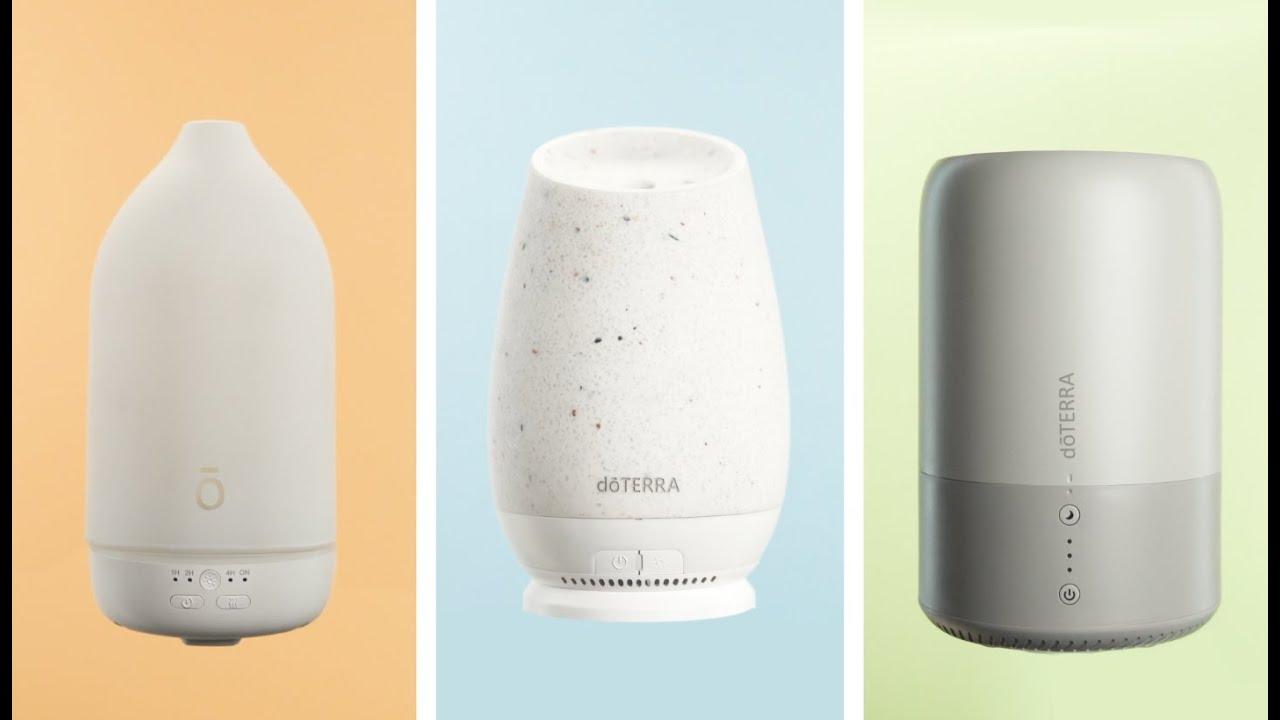 Dawn™ Aroma Humidifier, Roam™ Diffuser, and Laluz™ Diffuser