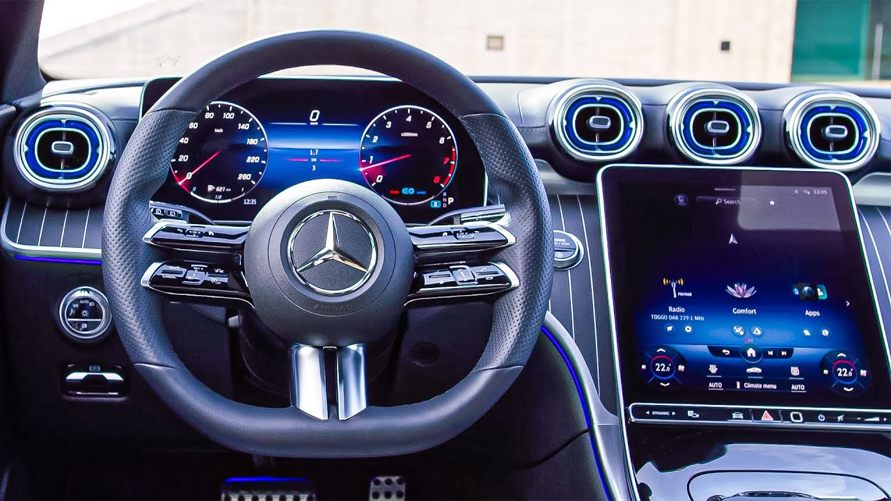 Mercedes C-Class (2021) INTERIOR | High-Tech and Luxury | Small S-Class