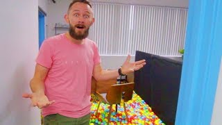 Turning My Bosses Office Into A Ball Pit!