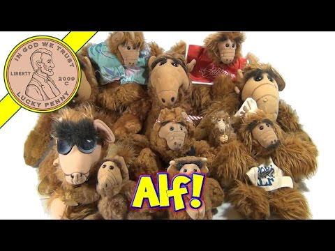 Alf Lot Collection - Burger King Toy, Talking Alf, Alf Clip On and Window Cling!