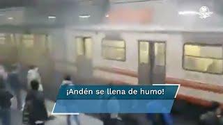 Videos que circulan en redes sociales muestran el humo en la estación de la Línea A. Aclara el Sistema de Transporte Colectivo que fueron maniobras para ajustar las zapatas de un tren y que esto sucedió por la mañana