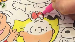 Coloring Page Charlie Brown and Friends in the Pumpkin Patch for Toddlers and Preschoolers