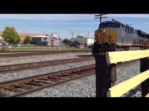 CSX Train Passing Though Muncie Indiana Tape 10 C