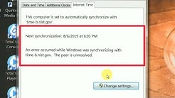 How To Fix An Error Occurred | Synchronize with an Internet time servers In Window | Computer
