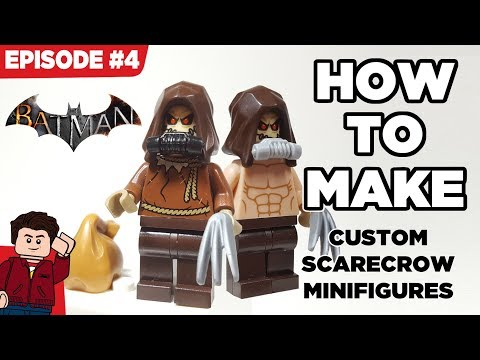 How to Make My Custom LEGO Arkham Scarecrow Minifigures - Episode #4