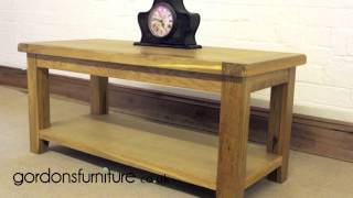 Java Solid Rustic Reclaimed Oak Coffee Table From Gordons Furniture