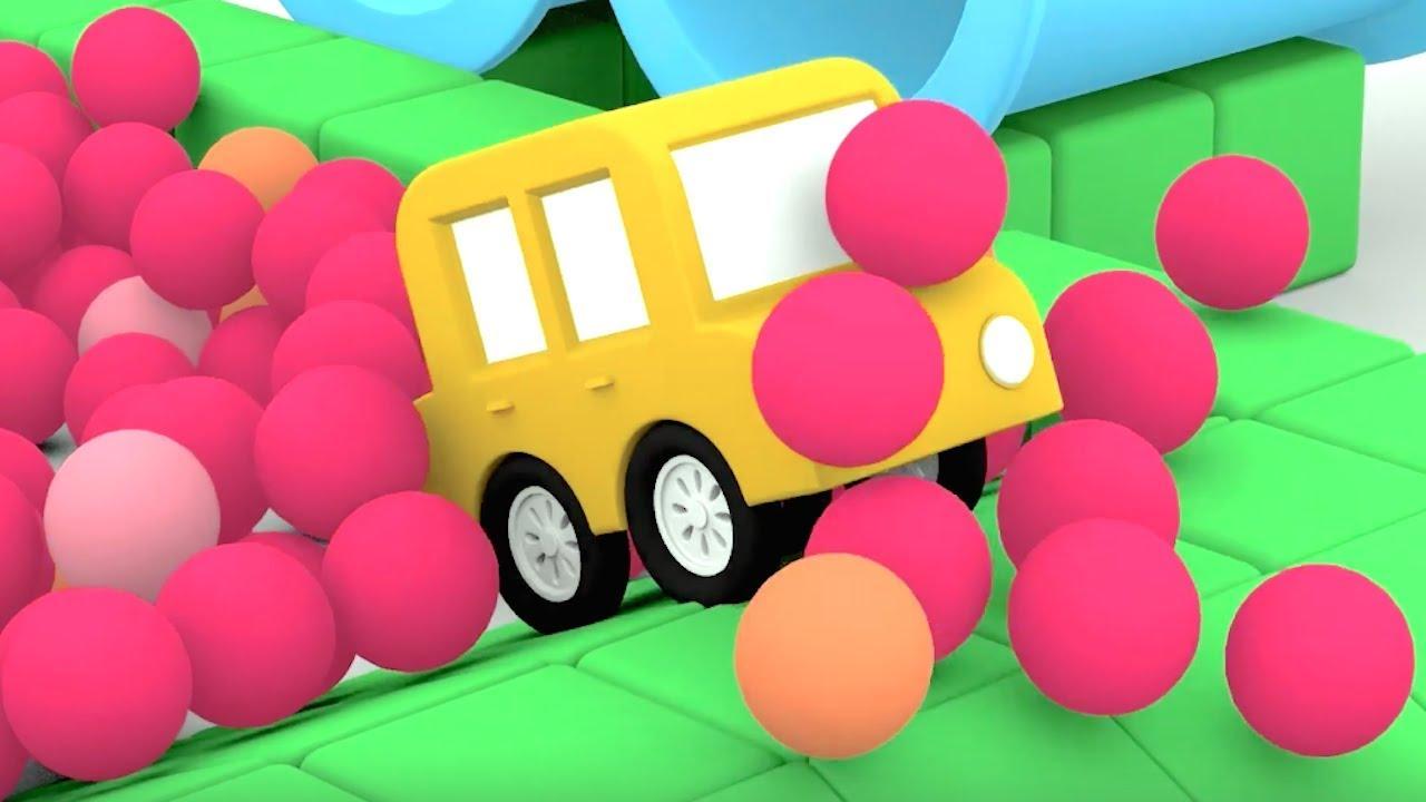 #eğiticiçizgifilm Çizgi Film - Dört küçük araba Ambulans yapıyor