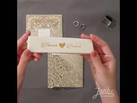 DIY glitter invitations WPFC2126G