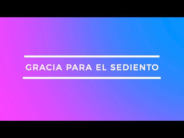Gracia para el sediento | Pr. Benigno Sañudo