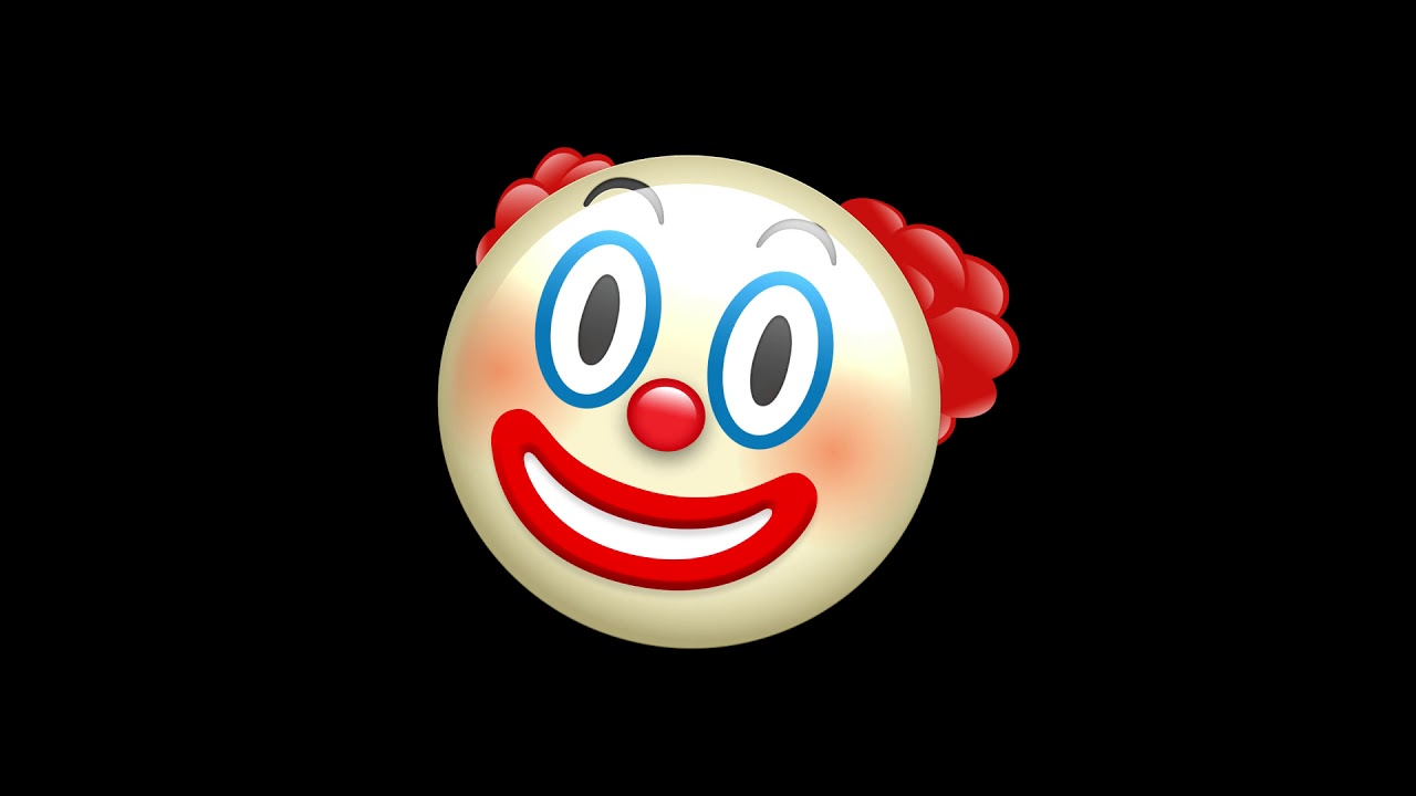 Clown Face Free animated emoji Green screen all faces – Intro Video Maker