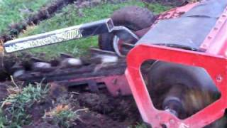 American small trench digging machine