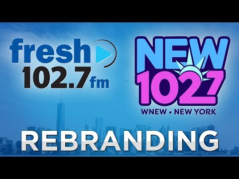 """WNEW """"Fresh 102.7"""" Rebrands To The All """"New 102.7"""""""