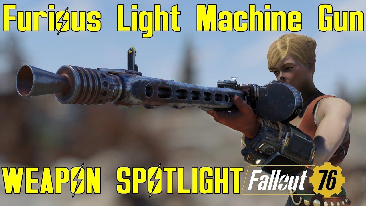 Fallout 76: Weapon Spotlights: Furious Light Machine Gun ...