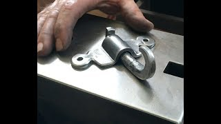 A good blacksmithing project - hook with mounting bracket