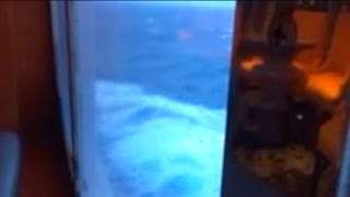 HUGE WAVES Hit Cruise Ship During Hurricane Matthew