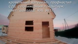 Баня с мансардой - строительство бани под ключ зимой