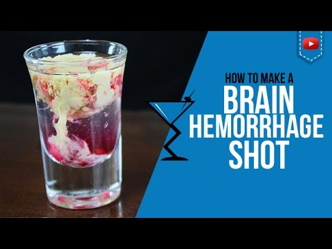 Brain Hemorrhage or Bloody Brain Shot - Brain Hemorrhage Shot for Halloween