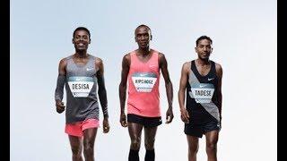 Nike Breaking2 Sub 2hour Marathon Attempt with Eliud Kipchoge, Zersenay Tadese and Lelisa Desisa