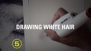 How to Draw White Hair With Pencil