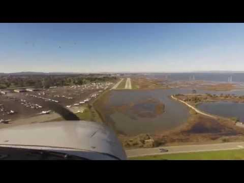 Cessna 172SP flight from San Carlos to Livermore and Palo Alto