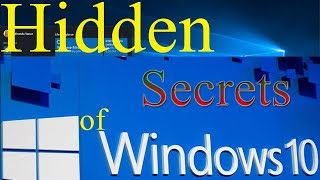 windows hidden features | windows 10 secrets | windows 10 registry