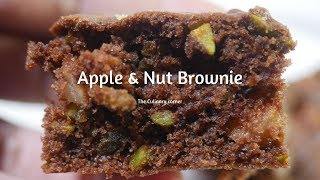 Brownies with Apple & Pistachio