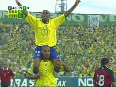 Brasil 5x0 Chile - 2005 - Eliminatórias Copa 2006