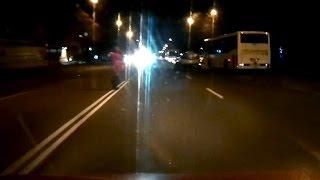Как водители ночью видят пешеходов (Кривой Рог)
