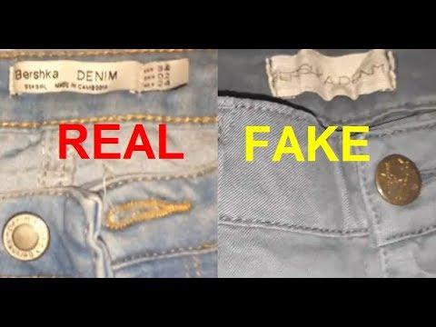Real vs Fake Bershka jeans. How to spot counterfeit Bershka