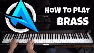 Ali-A Intro Theme Song - Piano Tutorial - Dirty Rush - Brass видео