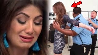 Shilpa Shetty fell Oops Moment on Airport | Raj Kundra