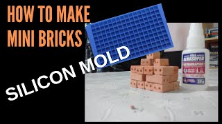 How to make a silicon mold for mini bricks