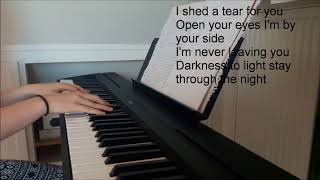 Shed A Tear - Kodaline (piano cover + lyrics)