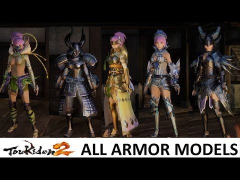 Toukiden 2: All Armor Set Models and Outfits (Exhibition / Compilation)
