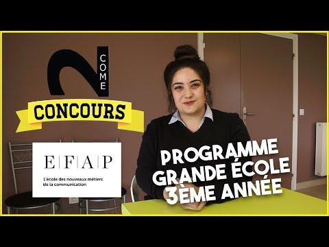 COME2CONCOURS - EFAP Programme Grande Ecole 3ème année avec Nicole Legato